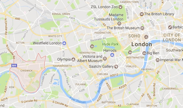 house clearance london - map